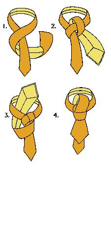 Windsorský jednoduchý uzel na kravatě